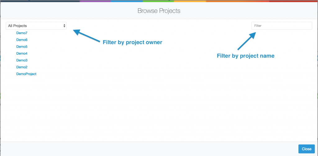 Project Browser Window