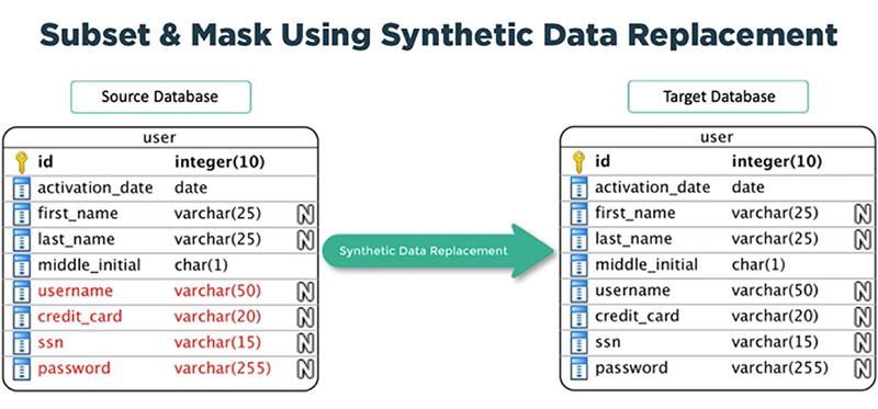 Subset & Mask Using Synthetic Data Replacement
