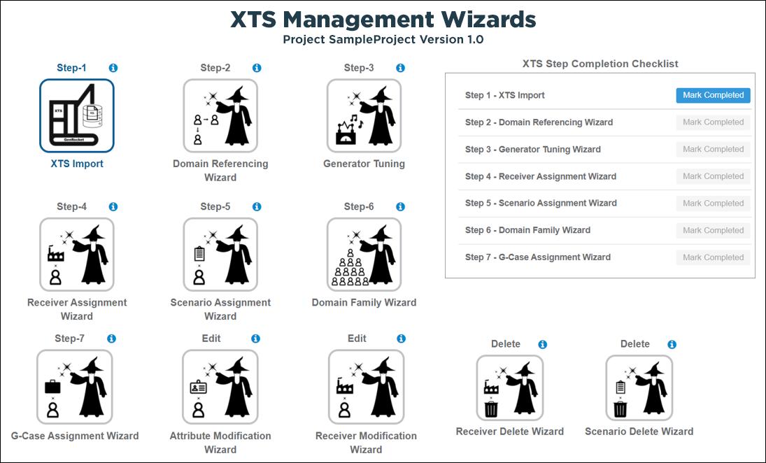 XTS Management Wizards
